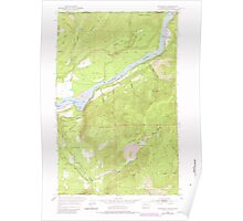 USGS Topo Map Washington State WA Boundary 240176 1952 24000 Poster