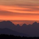 Julian Alps sunset by Ian Middleton