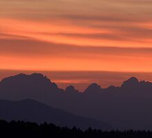 Julian Alps sunset by Ian Middleton