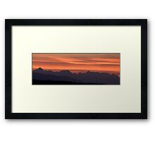 Julian Alps sunset Framed Print