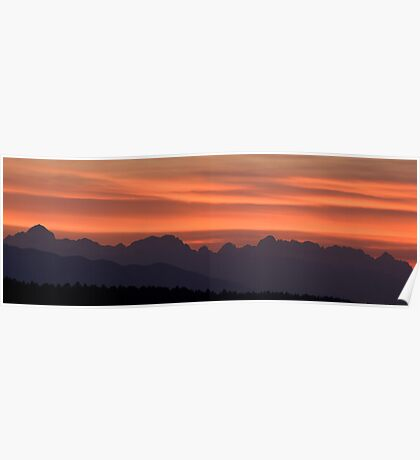 Julian Alps sunset Poster