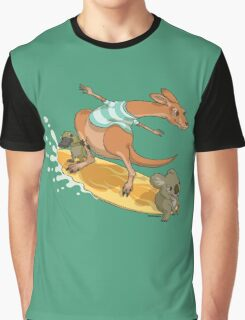 Surfing kangaroo and friends Graphic T-Shirt