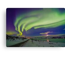 Auroras are everywere Canvas Print