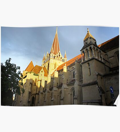 Lausanne Cathedral Poster