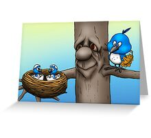 Mom and Baby Birds Greeting Card