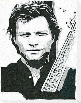 Jon Bon Jovi with Guitar Comic Book Sketch by chrisjh2210