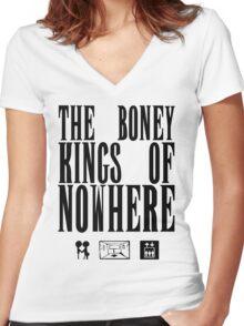 The Boney Kings of Nowhere -Black Women's Fitted V-Neck T-Shirt