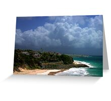 Crane Beach, Barbados Greeting Card