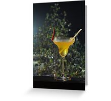 Chill out the spicy drink Greeting Card