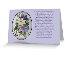 Clematis Greeting Card Greeting Card