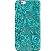 Light Blue Peacock Twilight iPhone Case/Skin