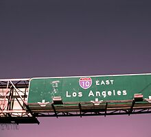 LAX Los Angeles Sunset-Sign by jobe
