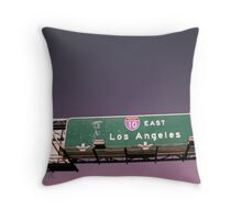 LAX Los Angeles Sunset-Sign Throw Pillow