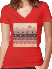 The Enless Jouney Women's Fitted V-Neck T-Shirt