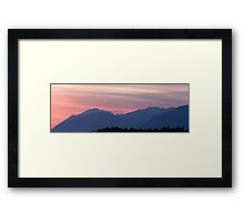 Kamnik Alps sunset Framed Print