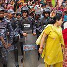 Crowd control, Kathmandu by John Spies