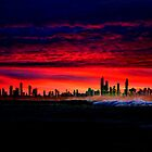 Hot Summer Night On The Gold Coast by Ian Mooney