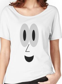 Smiling Cartoon Face Tee Women's Relaxed Fit T-Shirt