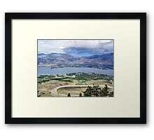 Desert and Irrigation Framed Print