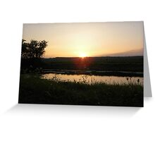 Canal Sunset Greeting Card