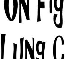 Lung Cancer Sticker