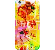 Yellow Red Flowers Lemons Limes Abstract iPhone Case/Skin