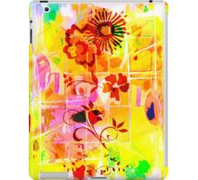 Yellow Red Flowers Lemons Limes Abstract iPad Case/Skin