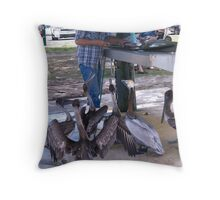 Fort Pierce South Jetty Pelicans   Throw Pillow