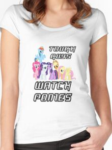 Tough guys [black text] Women's Fitted Scoop T-Shirt