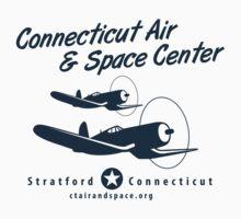 Connecticut Air & Space Center Corsair Design (Blue)  One Piece - Short Sleeve