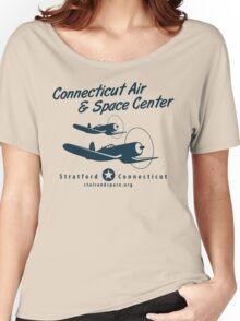 Connecticut Air & Space Center Corsair Design (Blue)  Women's Relaxed Fit T-Shirt