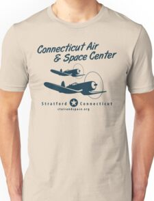 Connecticut Air & Space Center Corsair Design (Blue)  Unisex T-Shirt