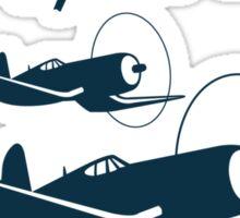 Connecticut Air & Space Center Corsair Design (Blue)  Sticker