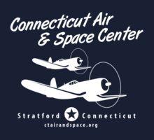 Connecticut Air & Space Center Corsair Design (White)  Kids Tee