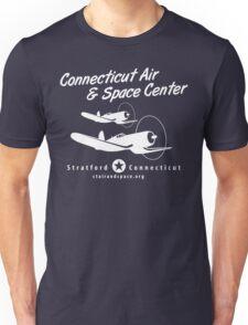 Connecticut Air & Space Center Corsair Design (White)  Unisex T-Shirt