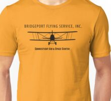 Bridgeport Flying Service Inc. (Black) Unisex T-Shirt