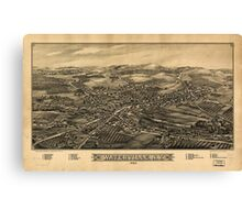 Panoramic Maps Waterville NY 1885 Canvas Print