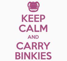 Keep Calm and Carry Binkies Pink by AngryMongo