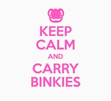 Keep Calm and Carry Binkies Pink Womens Fitted T-Shirt