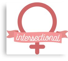 Intersectional Feminist Banner Canvas Print