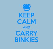 Keep Calm and Carry Binkies Blue Unisex T-Shirt