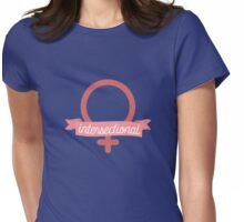 Intersectional Feminist Banner Womens Fitted T-Shirt
