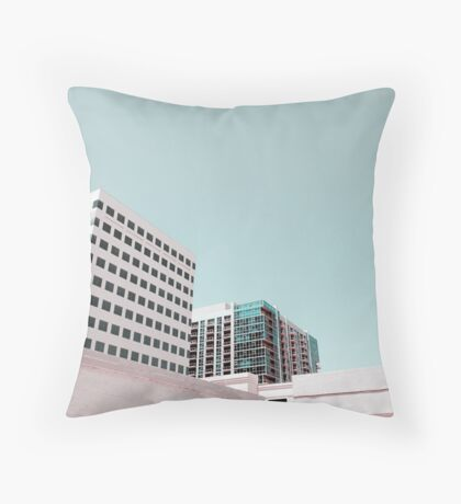 High Key High Rise Throw Pillow