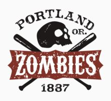 Portland Zombies Deadball Crest by Rob DeBorde