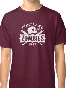 Portland Zombies Deadball Crest White Classic T-Shirt