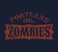 Portland Zombies Distressed Logo by Rob DeBorde