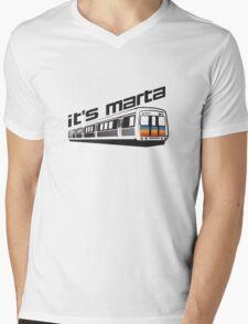 It's MARTA! Mens V-Neck T-Shirt