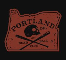 Portland Deadball Oregon Logo by Rob DeBorde