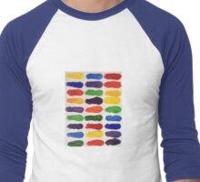 Finger Painting Men's Baseball ¾ T-Shirt