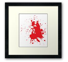 Blood Splatter Framed Print